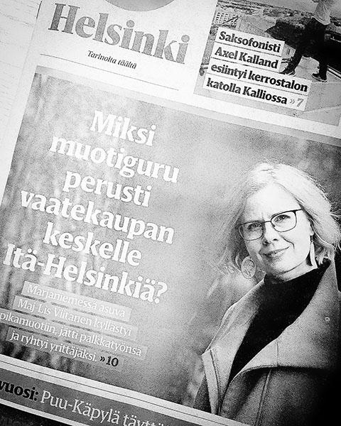 Maj-Lis Viitanen kertoo Helsongin Sanmoien haastattelussa, miksi jätti palkkatyönsä ja ryhtyi kiertotalousyrittäjäksi.